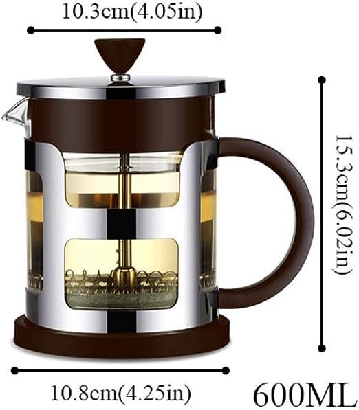 Amazon.com: Cafetera portátil de acero inoxidable con filtro ...