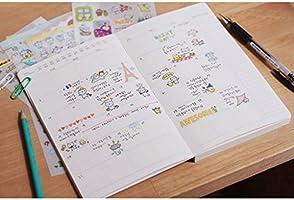 6 Sheets Transparent Stickers Kawaii Pig Crafts Scrapbooking Cards DIY Decor