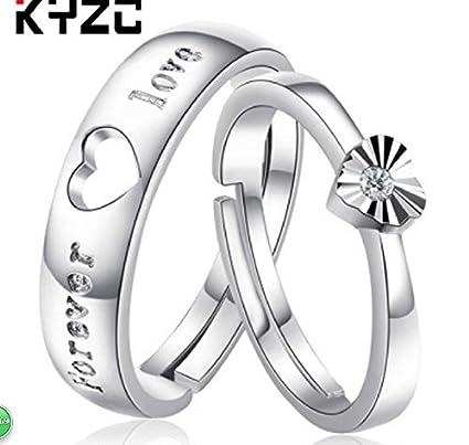 Amazon.com: zhiwen 925 plata esterlina Pareja Promesa ...