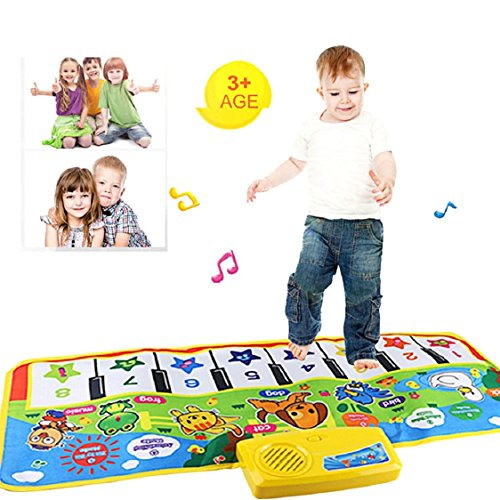 Ikevan Multifunctional Animal Music Blanket New Touch Play Keyboard Musical Music Singing Gym Carpet Mat Educational Toy Best Gift for Kids Baby