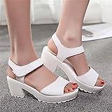 A5juznjanm Popular thick high heels sandals women platform women sandals large size 34-43