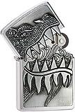 Zippo 28969 Dragon Teeth Brushed Chrome 2015/2016 IncShop Choice Catalog Lighter NEW