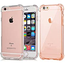 CaseHQ iPhone 6 Plus Case, iPhone 6S Plus Case Transparent Enhanced Grip Protective Defender Cover Soft TPU Shell Shock-Absorption Bumper Anti-Scratch Back Air Cushioned 4 Corners