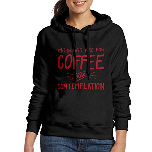 Mornings Are For Coffee And Contemplation Womens Black