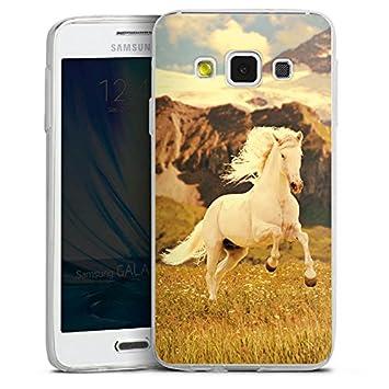 2015 Slim Case Silikon H/ülle Ultra D/ünn Schutzh/ülle kompatibel mit Samsung Galaxy A3 Weisses Pferd Hengst Mustang Stute