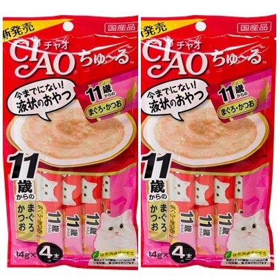 CIAO Chu ru Cat Food Lick Tuna with Collagen 2 Pack (4 pcs / pack)