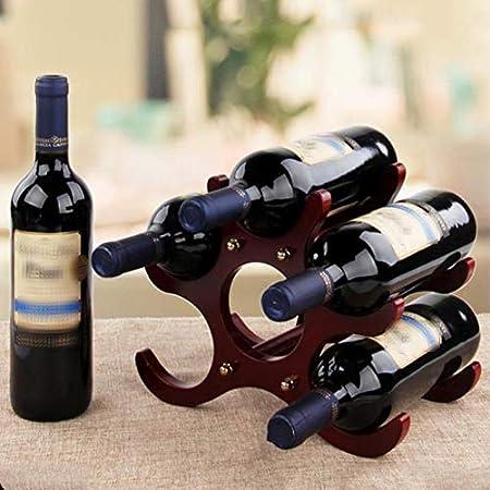 Botelleros De Madera,Estante Para Botellas De Vino Para Vino U Otras Bebidas Vinoteca De Madera Para 6 Botellas