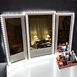 LED Vanity Mirror Lights Kit,16.4ft/5M 300 LEDs 6000K Daylight White Flexible LED Light Strip,Ailuki Makeup Dressing Table Vanity Set with Dimmer and Power Supply,Mirror not Included