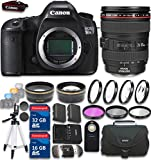 Canon EOS 5DS R Digital SLR with Low-Pass Filter Effect Cancellation with EF 24-105mm f/4 L IS USM Lens with 48GB in SDHC Memory & Accessory Bundle (19 Items) - International Version (No Warranty)