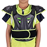 WINGOFFLY Kids Chest Spine Protector Body Armor Vest Protective Gear for Dirt Bike Motocross Snowboarding Skiing