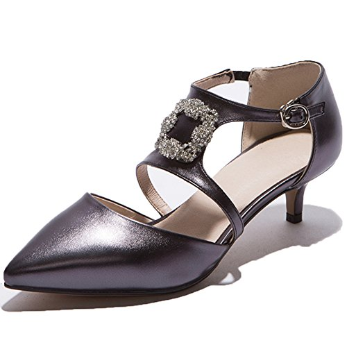 Count Heel Wedding Women's Pointed Party Dress Pumps Shoes SaraIris Black Kitten Rhinestone xTUIqI6