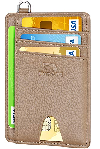 FurArt Slim Minimalist Wallet, Front Pocket Wallets, RFID Blocking, Credit Card Holder with Disassembly - Leather Quality Wallet