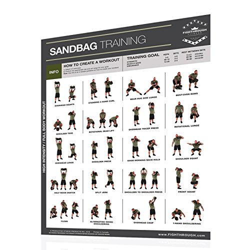 Productive Fitness Fighthrough Series Sandbag Work Out Poster Laminated
