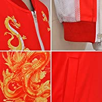 Baige Uniforme de béisbol de Mulan, Chaqueta Bordada de Mostaza de ...