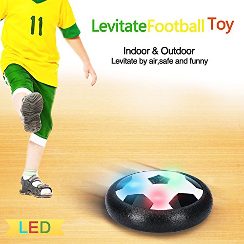 Famtec Kids! Great Quality - The Amazing Hover Ball with Powerful LED Light for Boys Girls Sport Children Toys Training Football for Indoor or Outdoor with Parents Game (Sports Toys For 2 Year Old Boy)