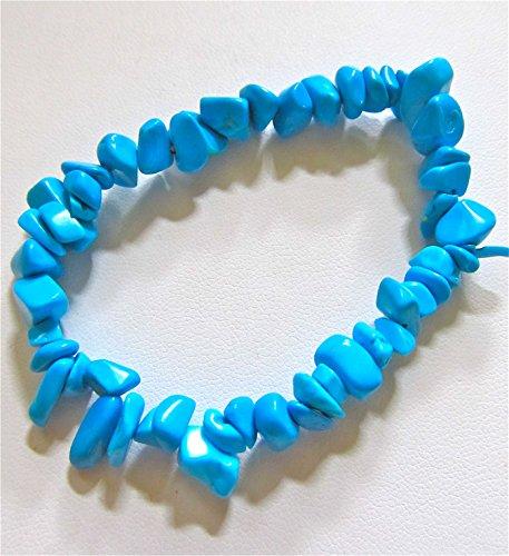 Turquoise Pebbles Stretch Bracelet