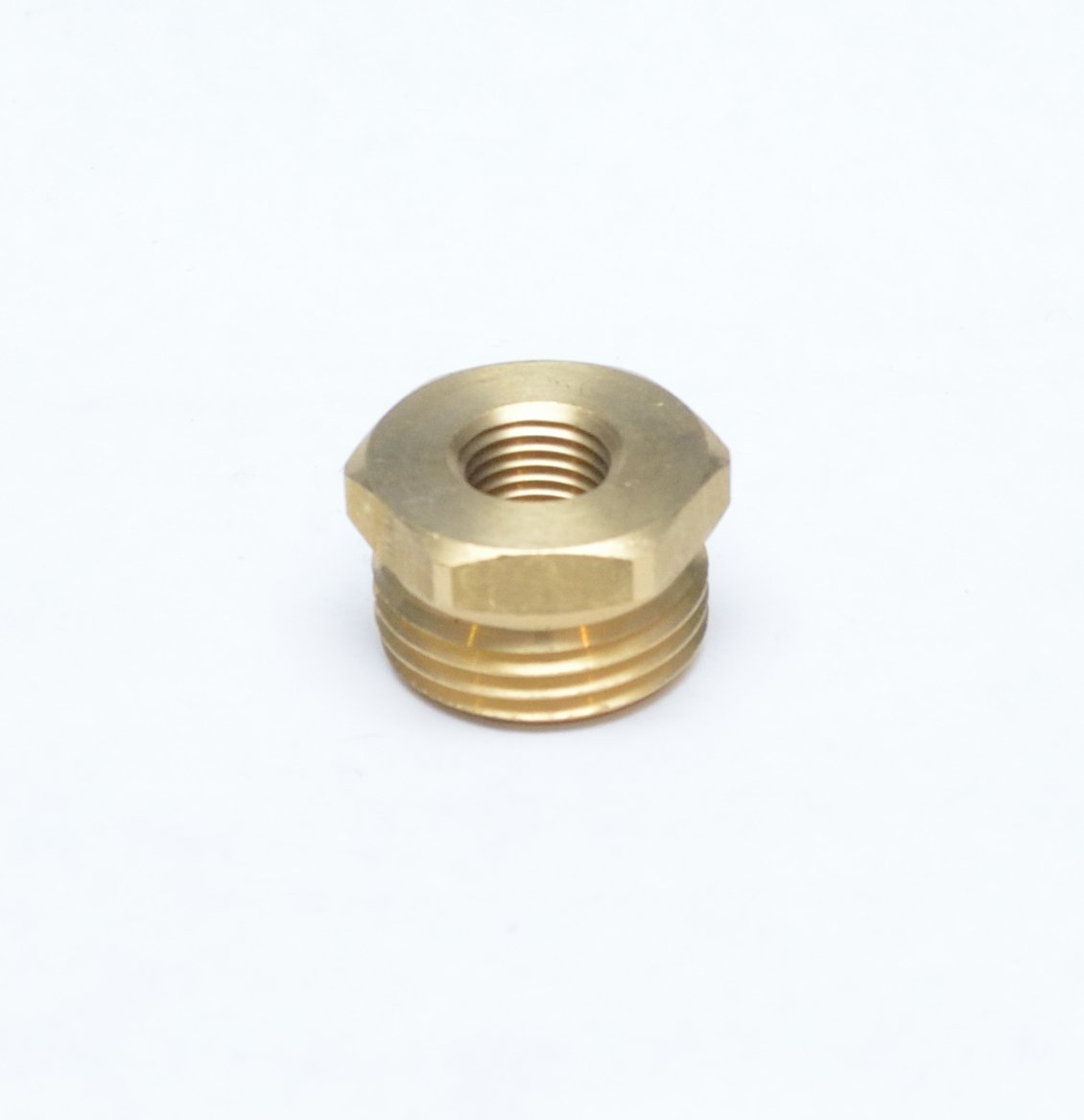 "FASPARTS 1/4"" Female NPT FPT FIP to 3/4"" Male GHT Garden Hose Thread Adapter Brass Fitting Fuel / Air / Water / Boat / Gas / Oil WOG House / Boat / Lawn / Power Wash / Irrigation"