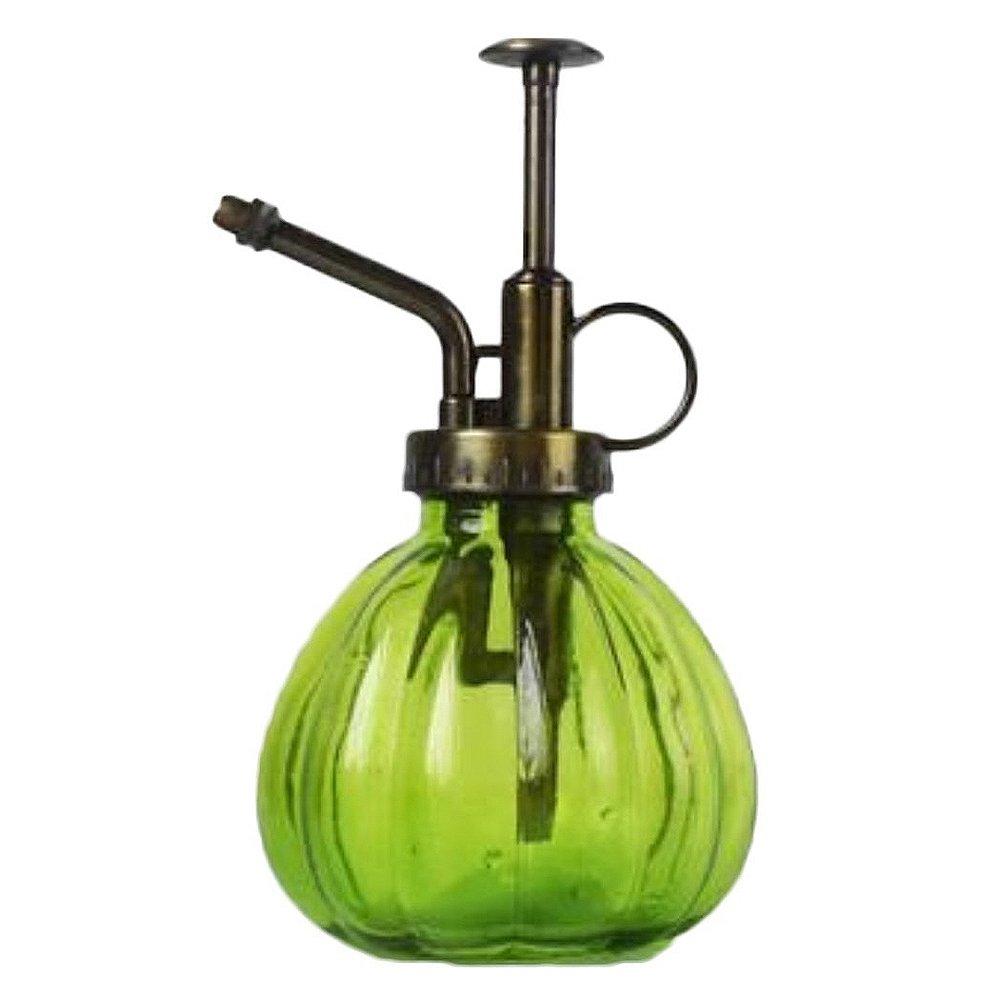 SODIAL 1pz Botella de Spray Sistema de rociador Botella de Spray de Vidrio Antiguo Retro Riega Plantas suculentas Interior 9 x 16cm Verde: Amazon.es: Hogar