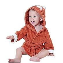 Baby Animal Bathrobe ML_Victor Baby Cute Carton Hooded Robe Bath Towel, 0-24 Months
