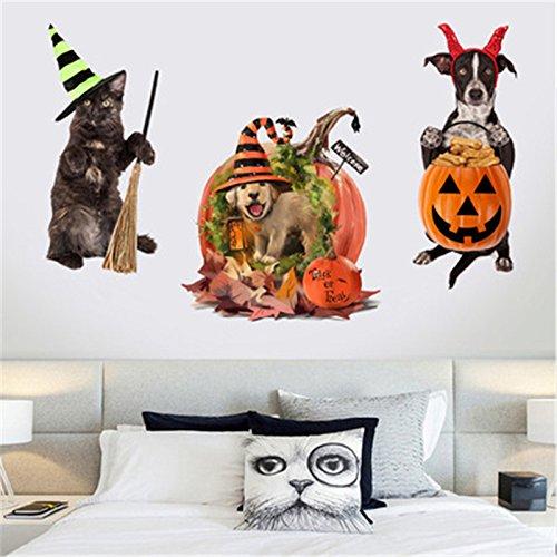 Weaeo Perros Gatos 3D Wall Sticker Pegatinas Orificio Higiénico Ver Decoración De La Habitación Baño Perros Vivos Animales Arte Calcomanías De Vinilo ...