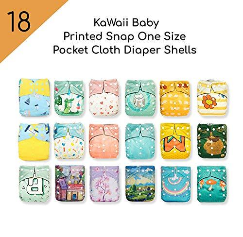 18 KaWaii Baby Printed Snap One Size Pocket Cloth Diaper Shells (8- 106872c63c4