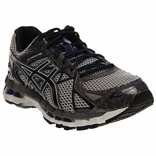 ASICS Men's Gel-Surveyor 3 Running Shoe,Stone/Black/Blue,8 M US