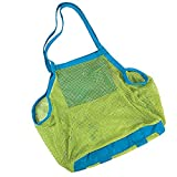 CJESLNA Mesh Beach Tote Bag - Good for the Beach Family Children Play(swim, Toys, Boating. Etc.) - X-large
