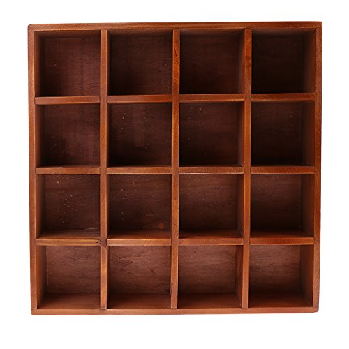 Fityle Home Storage Cabinet Cubby Wall Mount Shelf Grids for Displaying Collection