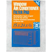 True Blue Washable Window Air Conditioner Filter Pad, 15x24, 12 Pack