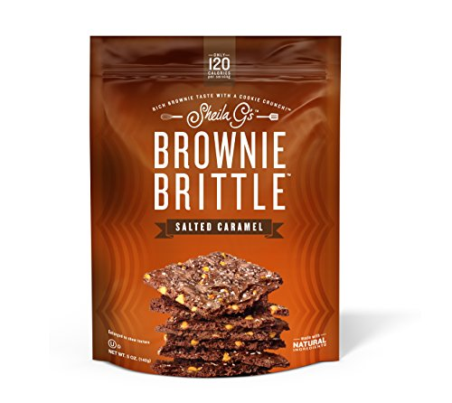Brownie Brittle, 5 oz, Salted Caramel (120 Calorieper oz), 6Count