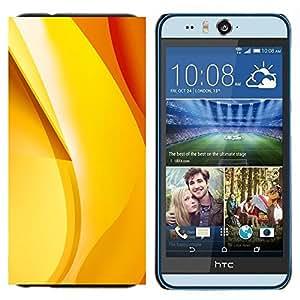 BearCase / Cubierta de protección Caso duro de la contraportada de Shell Plástico /// HTC Desire Eye ( M910x ) /// oro amarillo naranja abstracta plátano rojo