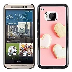 iKiki Tech / Estuche rígido - Three white heart - HTC One M9