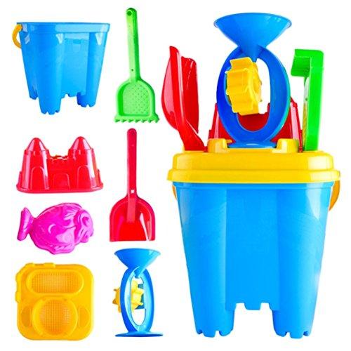 7Pcs Sand Beach Toys Castle Bucket Spade Shovel Rake Water Tools Best Gift for Kids - Waymine by Waymine