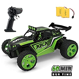 Jelly Play RC Racing Car for Kids,2.4Ghz High Speed Remote Control Car,1:18 2WD Toy Car with Two Rechargeable Batteries for 60 Min Play,Great Gift for Boys Girls(Green)