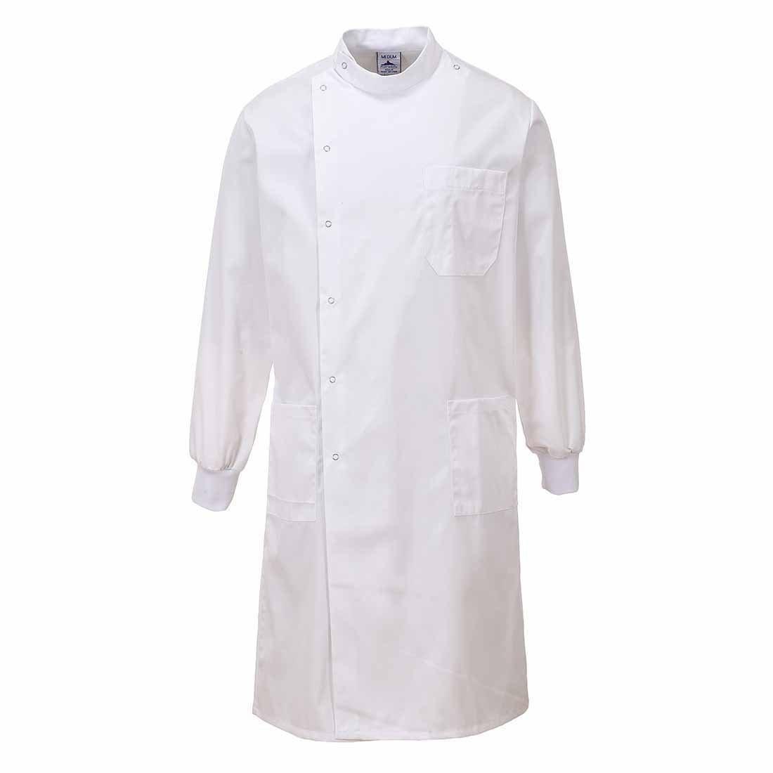 James Unisex Howie Styled Lab Coat White Dr