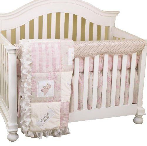 Front Crib Rail Cover Up Set, Heaven Sent Girl ()