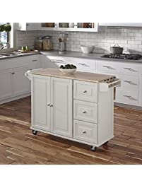 Home Styles 4511 95 Liberty Kitchen Cart With Wood Top White