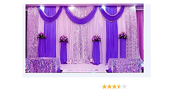 20x10ft Wedding Stage Decor Backdrop Party Drapes with Swag Silk Fabric Curtain