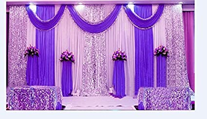 Amazon Com Lb Wedding Stage Decorations Backdrop Party Drapes With