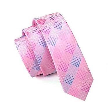 Jason&Vogue - Corbata - Cuadrados - para hombre rosa Rosa Talla ...