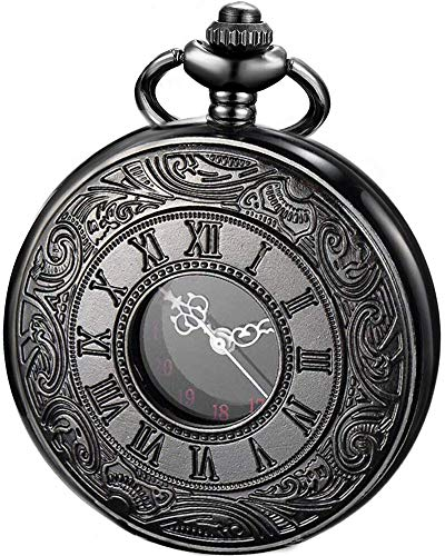 LYMFHCH Vintage Roman Numerals Quartz Pocket Watch, Men Womens Watch with Chain Xmas Fathers Day Gift from LYMFHCH