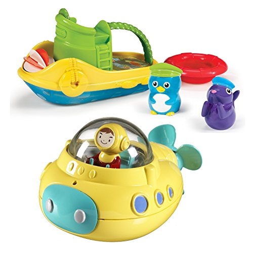 Explorer Bath Squirters (Munchkin Tug Along Boat Bath Toy with Undersea Explorer)