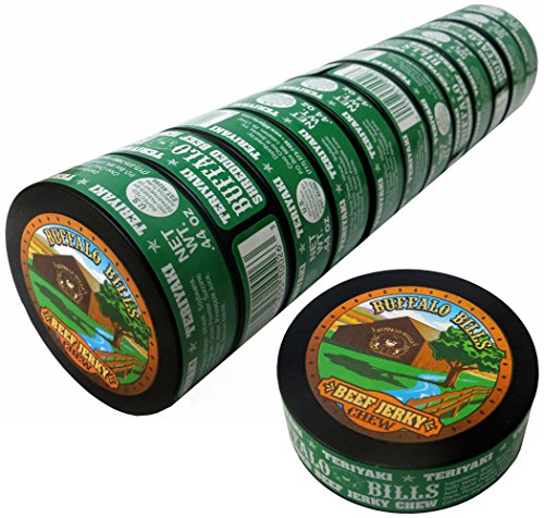 Buffalo Bills 0.44oz Teriyaki Shredded Beef Jerky Chew (12 cans of teriyaki jerky chew per roll)