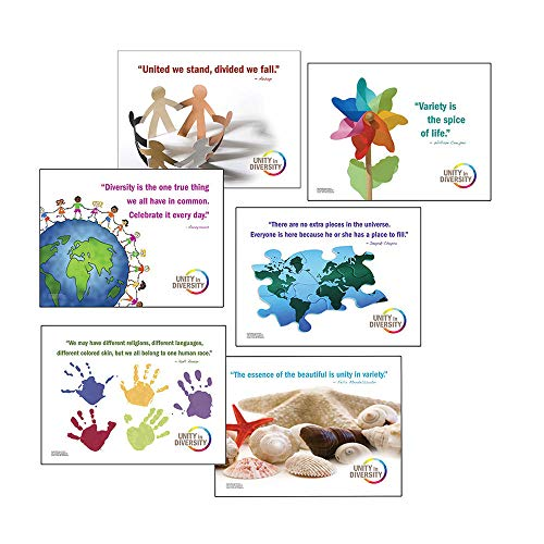 Unity in Diversity Laminated Poster Series. Set of Six Guidance Art Prints.