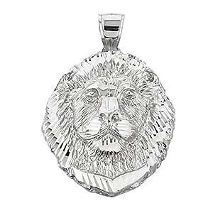 925 Sterling Silver Diamond Cut Leo Zodiac Sign Charm King