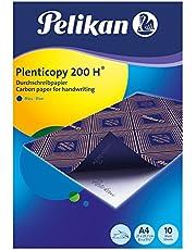 Pelikan Plenticopy - Papel carbón para escritura a mano (DIN A4, 200H), color azul, pack con 10 unidades