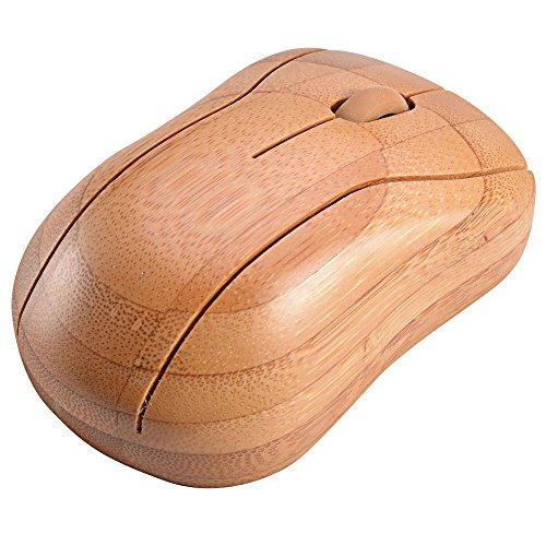Horsebiz Bamboo Wireless Optical Mouse Healthy Sweat-resistant Anti-radiation Wireless Mouse