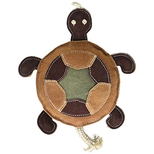 Native Dog Trendy Turtle Leather Dog Toy outlet