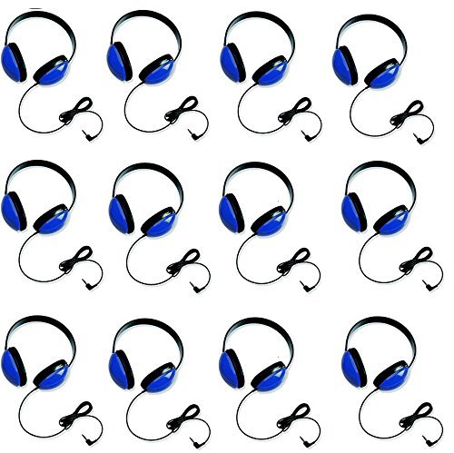 Califone 2800-BL Listening First Headphones in Blue (Set of 12) from Califone