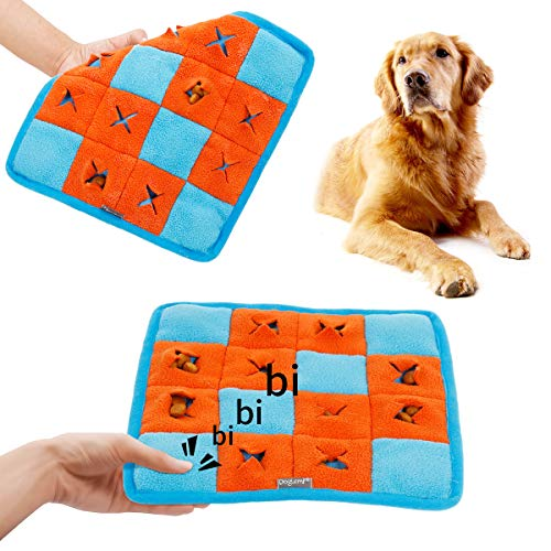 Coppthinktu Dog Squeaky Toys - Interactive Dog Chew Toys, Interactive Snuffle Mat for Dogs - IQ Treat Dog Toys Food Dispensing - Durable Tooth Cleaning Nosework Mat for Small and Medium Dogs